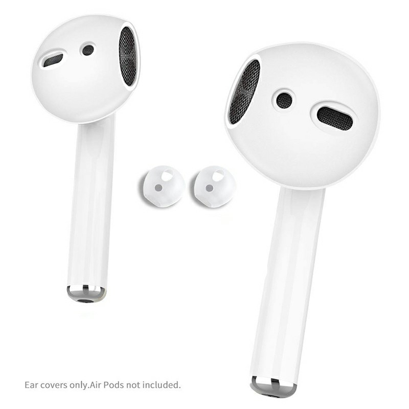 Snug Silicone Protective Case Slim and Fitted EarPods Cover Case with Good for Airpods 1/2 - Clear