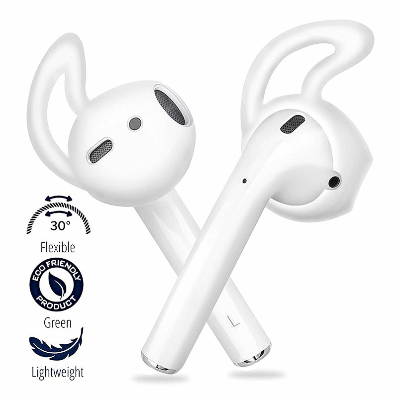 Ultra Thin EarPods Shark Fin Silicone Protective Case Cover for Airpods 1/2 - White