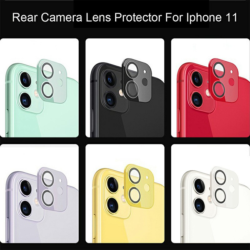 Apple iPhone Camera Lens Protector Tempered Glass Protective Film for iPhone 11 - Red