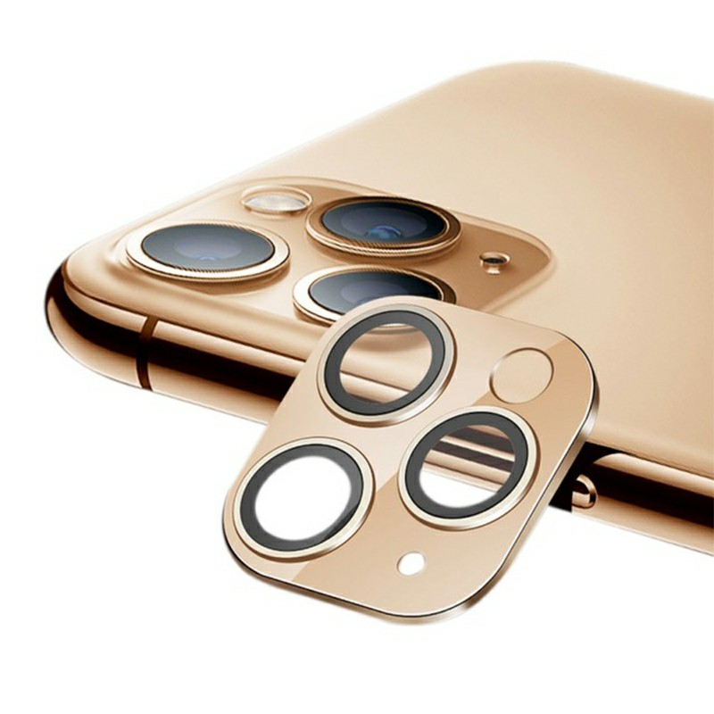 iPhone Camera Lens Protector Tempered Glass for iPhone 11 Pro and iPhone 11 Pro Max - Gold