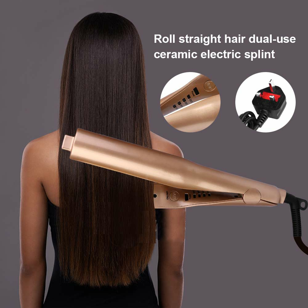 Electric Ceramic 2 in 1 Mestar Iron Pro Dual-Purpose Hair Straightener and Curler Flat Iron UK