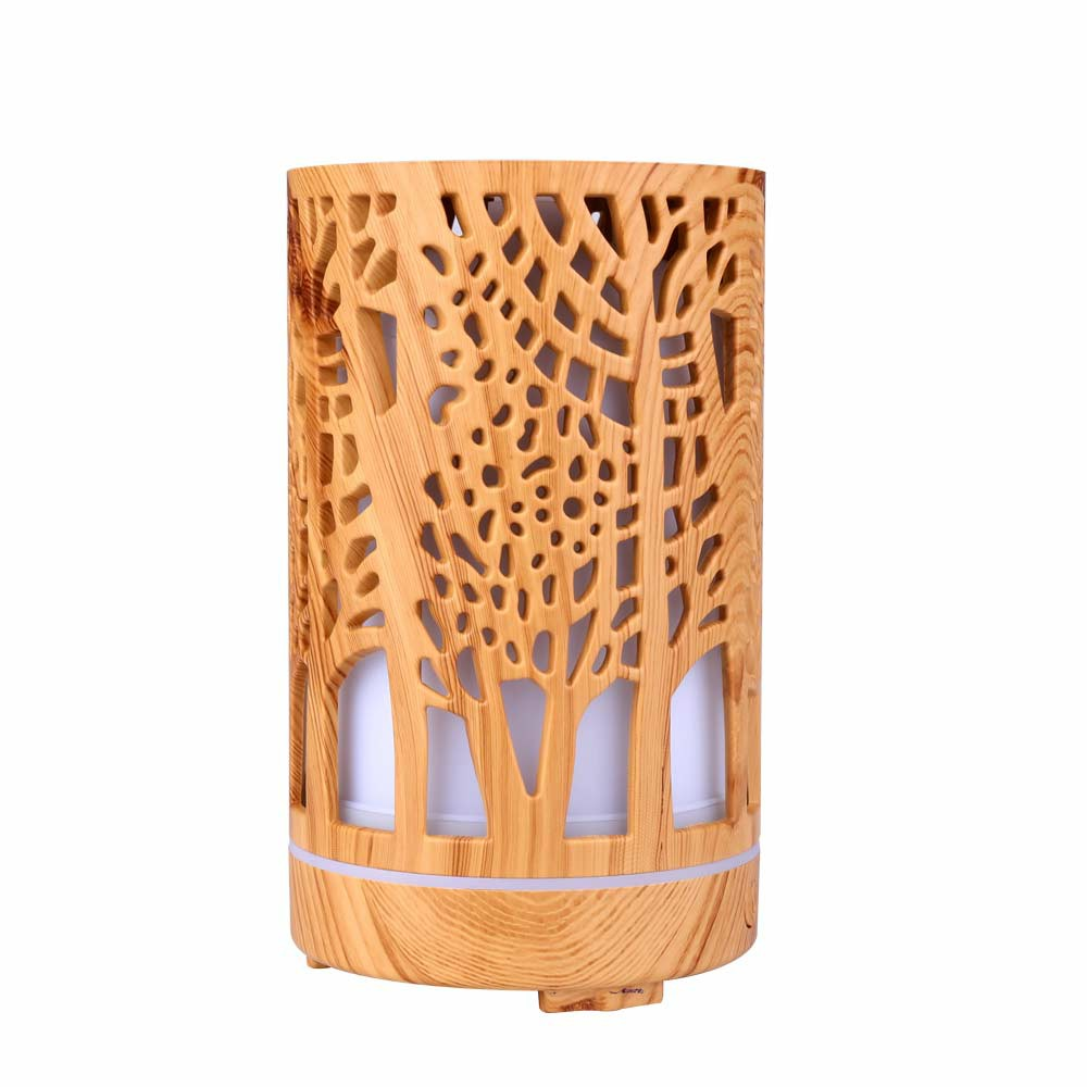 200ML LED Ultrasonic Humidifier Air Purifier Essential Oil Aroma Diffuser Aromatherapy - Light Wood Pattern