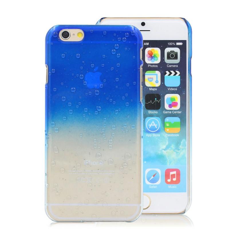 Soft TPU Rain Drop Design Back Case Phone Cover for iPhone 6 iPhone 6s - Dark Blue