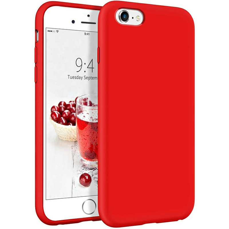 Shockproof Phone Case Ultra Soft Silicone and Slim Protective Back Cover for iPhone 6 iPhone 6s - Red