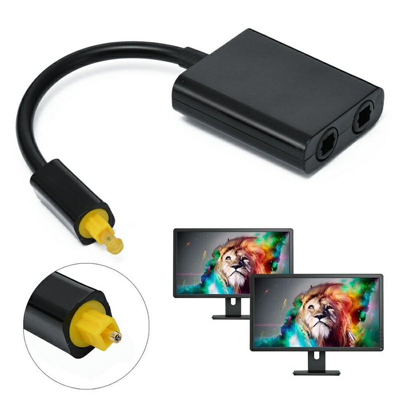 1 to 2 Splitter Optical Fiber Duplicator Adapter For Toslink Digital Audio Cable
