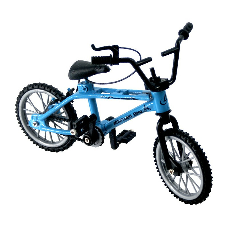 Flick Trix Mountain Finger Bike Mini Extreme Sports Miniature Simulation Bicycle Model - Blue