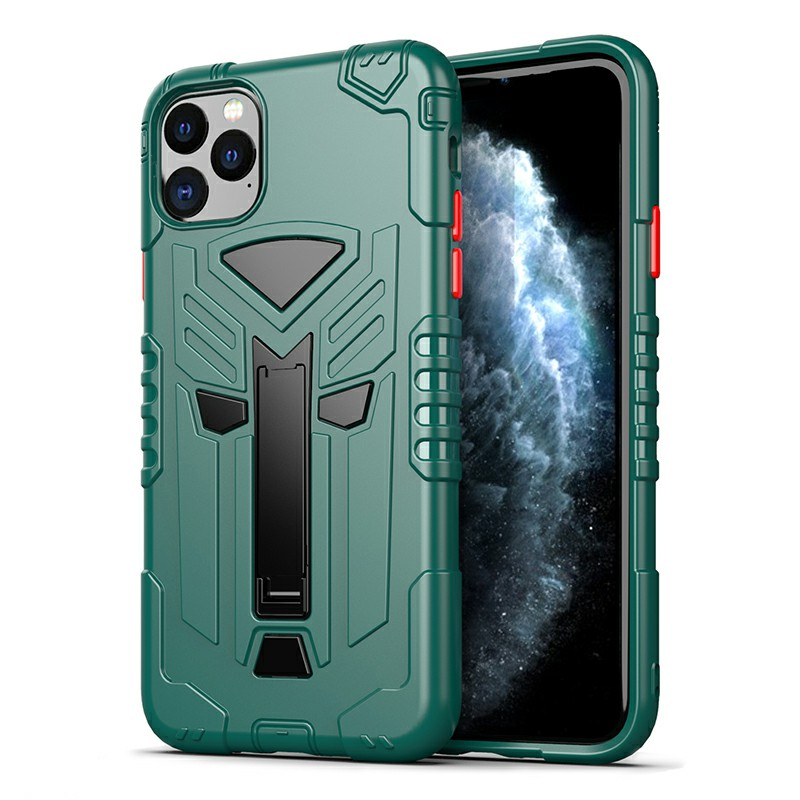 Heavy Duty Rugged Armor TPU Shockproof Case Fitted Cover for iPhone 11 Pro Max - Green