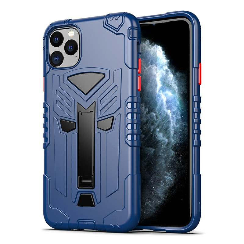 TPU Protective Case Back Cover Heavy Duty Rugged Armor Thin Case for iPhone 11 Pro - Blue
