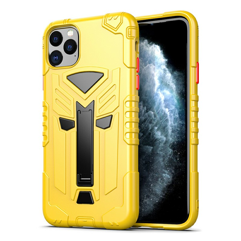 TPU Protective Case Back Cover Heavy Duty Rugged Armor Thin Case for iPhone 11 Pro - Yellow