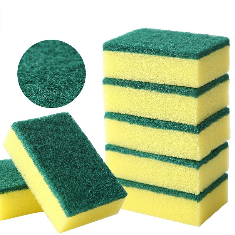 10 pcs Square Ultra Soft Dishwashing Sponges Kitchen Cleaning Tools Gadgets Products