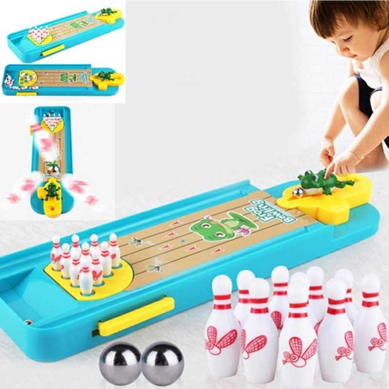 Mini Desktop Bowling Toy Set Indoor Education Board Game Funny Table Toys