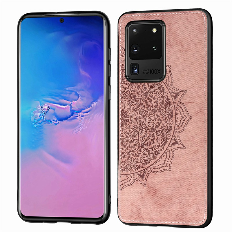 3D Printed Pattern Phone Case Cover Soft TPU Border for Samsung Galaxy S20 Ultra - Rose Gold
