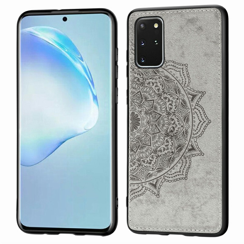 Mandala Printed Pattern Back Cover Protective Phone Case for Samsung Galaxy S20 Plus - Grey