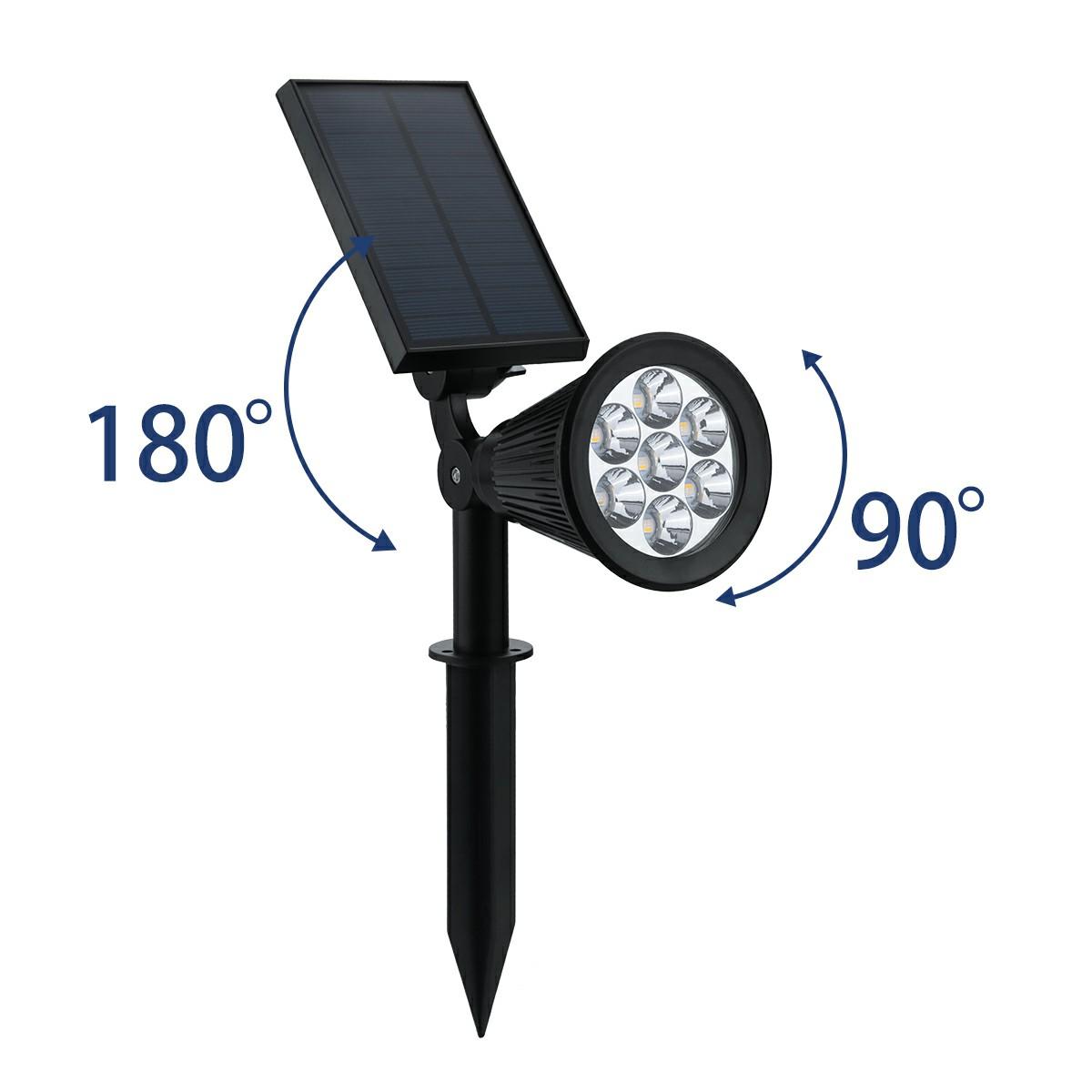 7 LED Discoloration Solar Lights Insert Floor Lawn Garden Lights Party Lights Decor Lamp