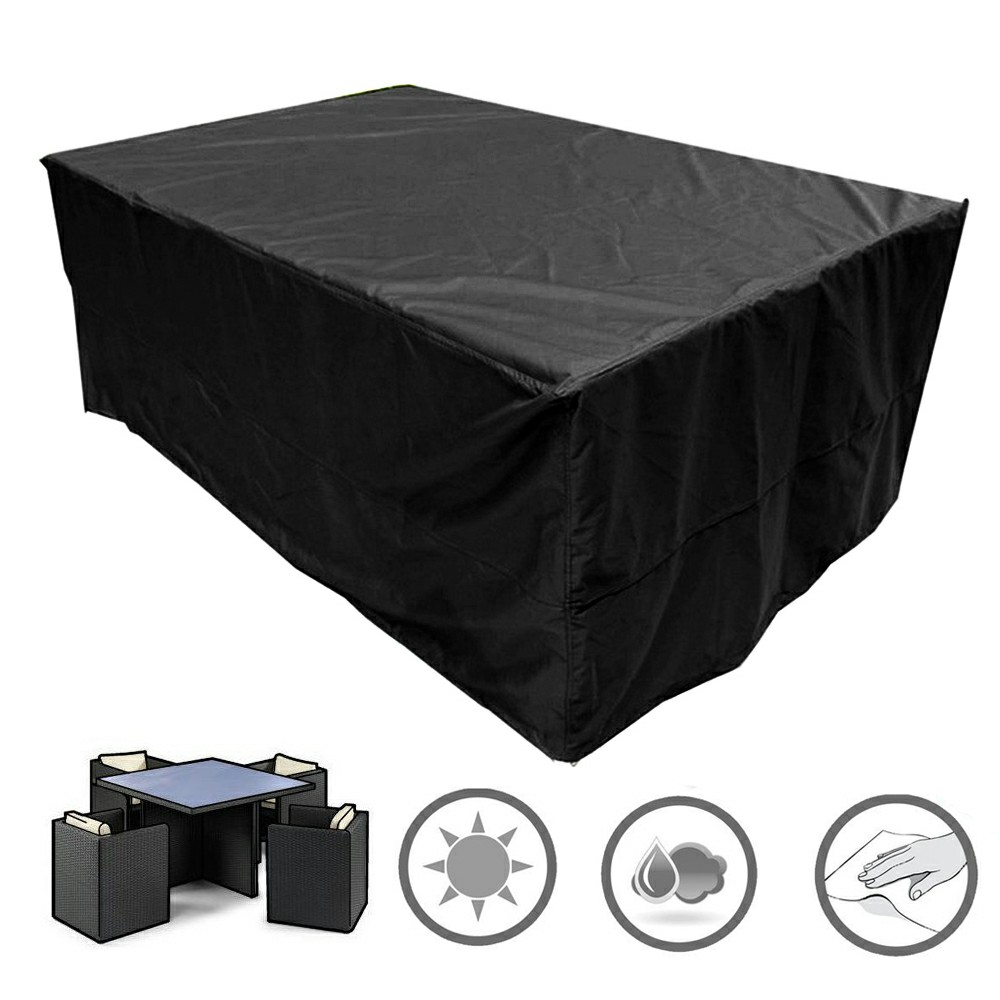 Large Waterproof Rattan Cube Cover Outdoor Garden Furniture Rain Protection Cover