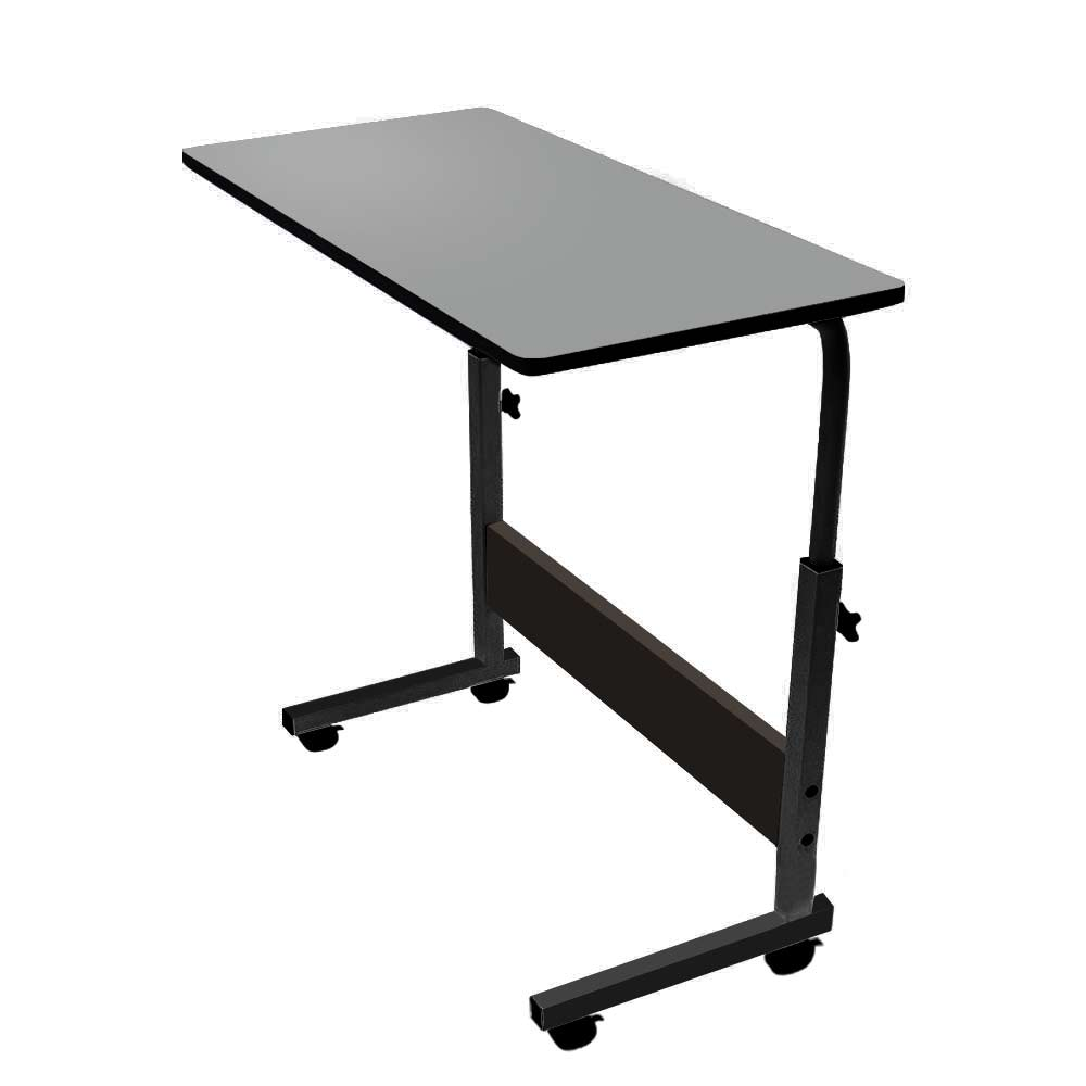 Movable Lift Notebook Desk Adjustable Laptop Table Trolley Sofa Bed Tray for Computer - Black