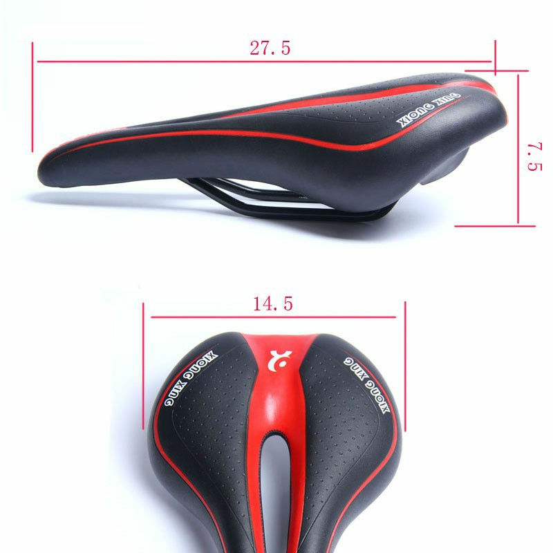Bicycle Bike Cycle MTB Saddle Road Mountain Sports Soft Cushion Gel Pad Seat UK - Black+Red