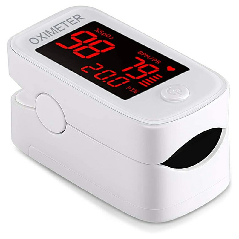 Mini Fingertip Blood Oxygen Saturation Monitor Oximeter Medical with LED Screen