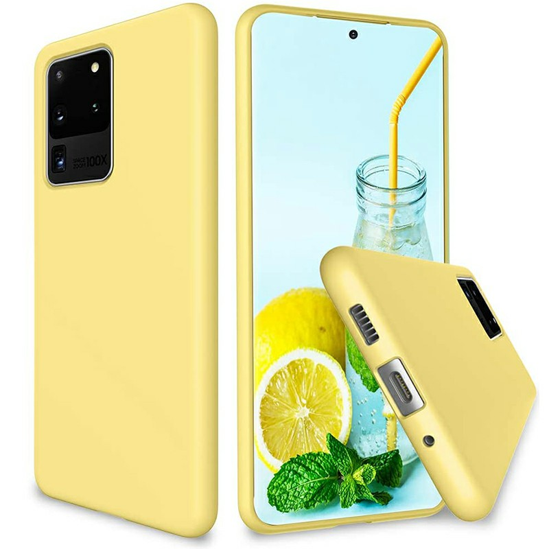 Ultra Soft Silicone Shockproof Cover Phone Case for Samsung Galaxy S20 Ultra - Yellow