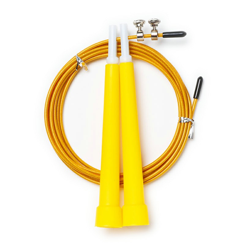 Plastic Skipping Rope Crossfit Steel Wire for Adult and Children Fitness Equipment - Yellow