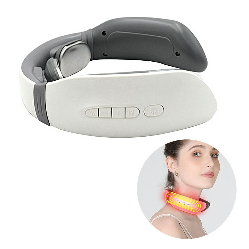 Portable Electric Cervical Neck and Shoulder Massager Relax Massage Relieve Pain USB Chargeable