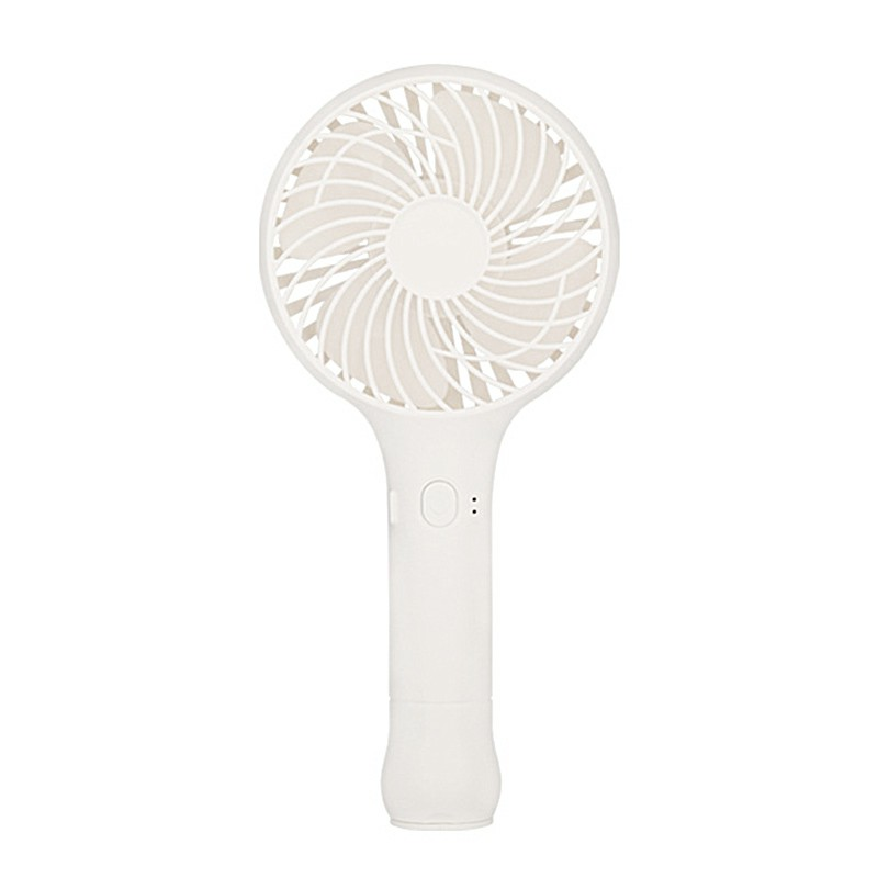 Mini Portable Hand held Desk Fan Cooler Cooling Fan USB Rechargeable 3-Modes UK - White
