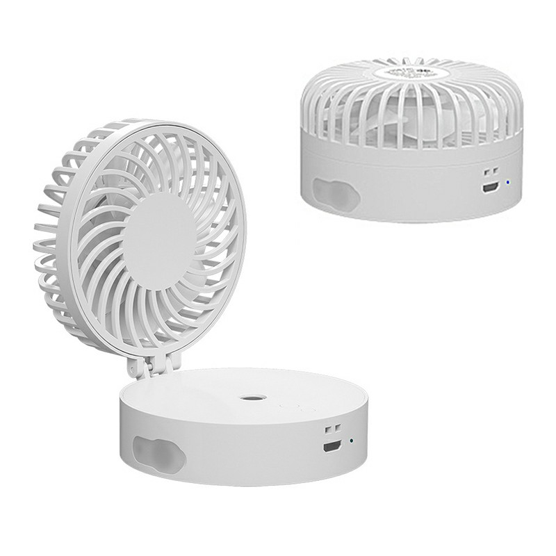 Mini Portable Handheld Cooler Fan USB Cooling Spray Hanging Neck Fan - White