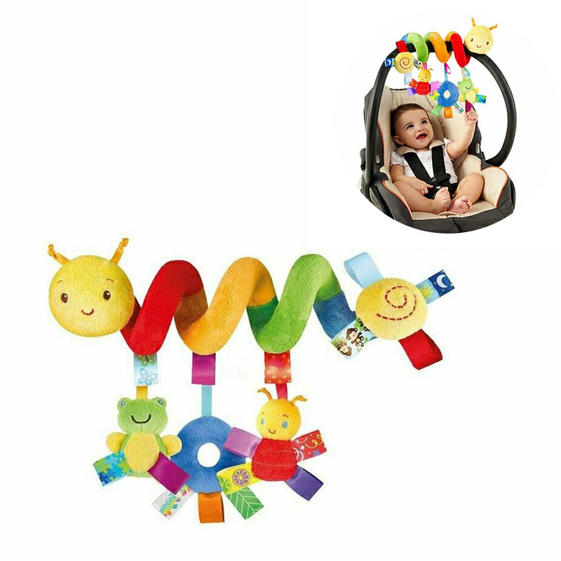 Baby Pram Crib Activity Spiral Plush Toys Stroller and Travel Activity Toy Baby Toys