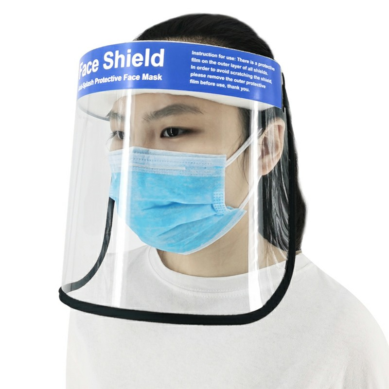 Lightweight Anti-splash Protective Face Mask HD Transparent PVC Face Shield