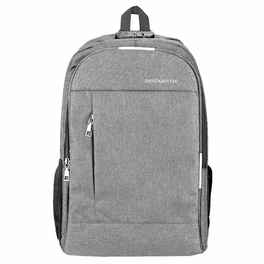 20 In Laptop Bag Backpack with USB Charging Port Headphone Jack Waterproof - Grey