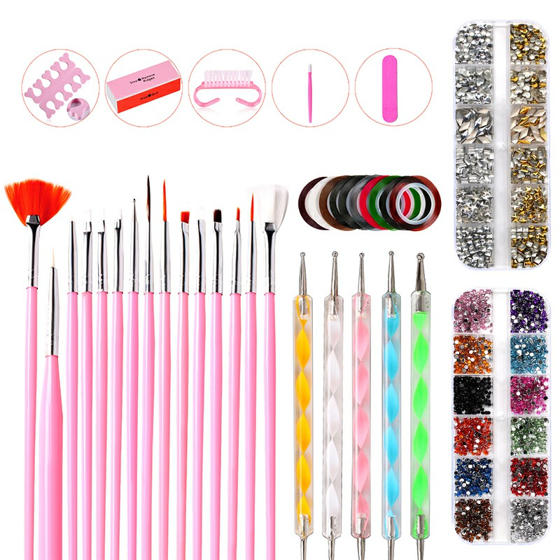 37 pcs Nail Art Decorations Set Beauty Manicure Tools Professional Painting Manicure Tools Kit - 1