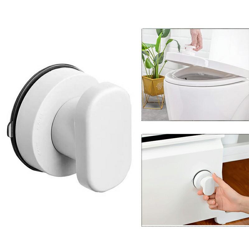 Sucker Handle Sliding Door Refrigerator Cupboard Pulls Wall Mounted Handrail