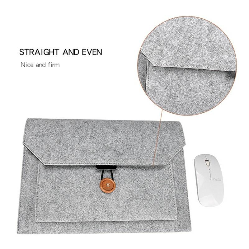 15.4 Inch MacBook Pro/iPad Sleeve Felt Laptop Protective Case - Grey