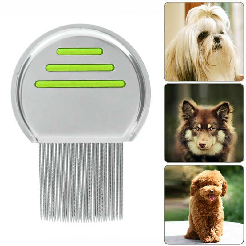Lice Nit Comb Get Down To Nitty Gritty Stainless Steel Metal Head And Teeth - Green