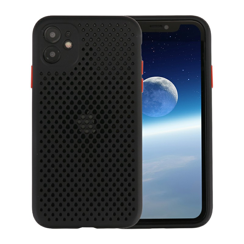Official Liquid Silicone Case Soft Shockproof Cover Full Protective Case for iPhone 11 - Black