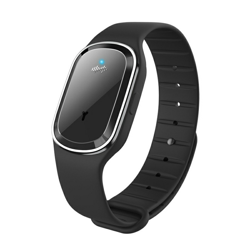M1 Smart Repellent Bracelet Ultrasonic Physical Mosquito Repellent Wristband - Black