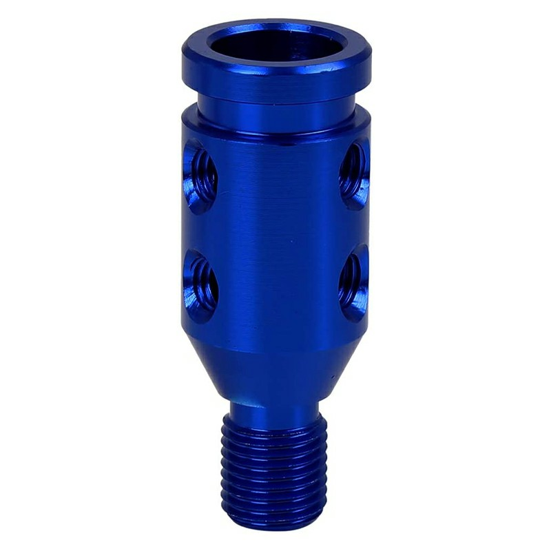 M10 X 1.5 Car Universal Black Gear Shift Knob Adapter for Non Threaded Shifter - Blue