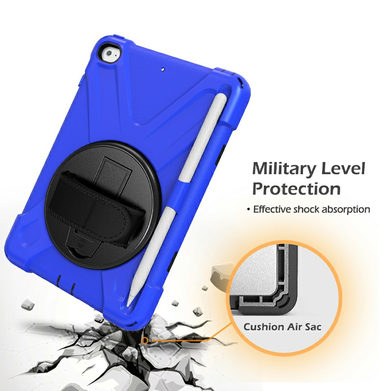 Waterproof Silicone Protective Back Case for Apple iPad Mini 4/5 - Blue