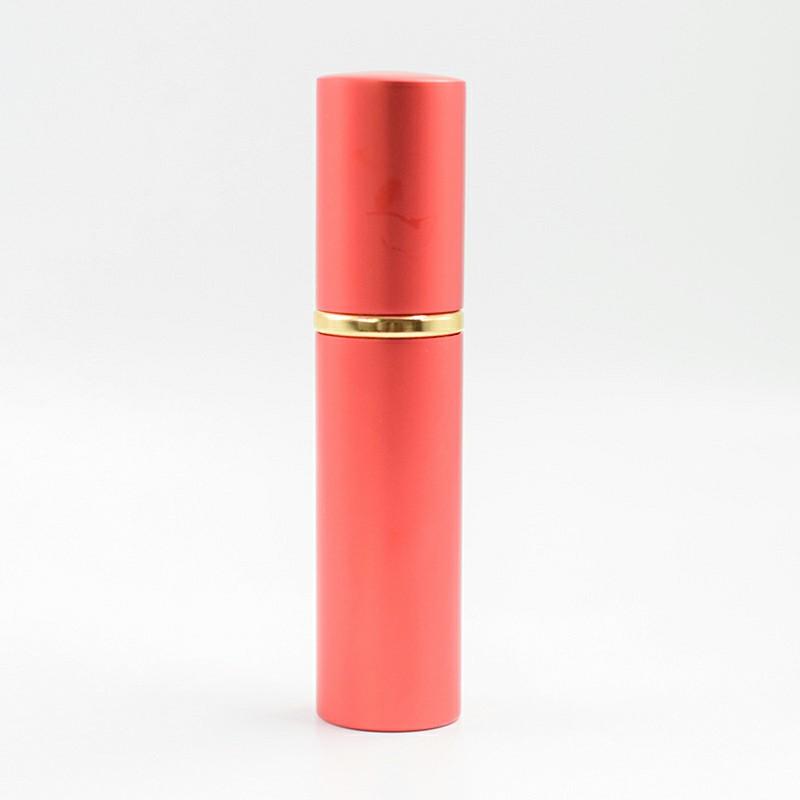 10ml High-grade Anodized Aluminum Cylindrical Spray Bottle Perfume Bottle - Red