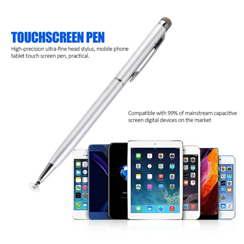 Universal Capacitive Touch Stylus Pen for iPad iPhone Tablet - Silver