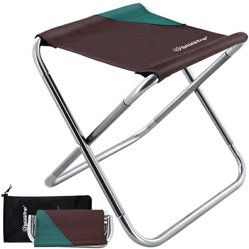 Coffee Portable Foldable Aluminium Alloy Camping Stool