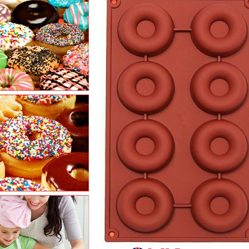 Silicone Doughnut Ice Mould Mold Chocolate Donut Cake Muffin Baking Pan Tray