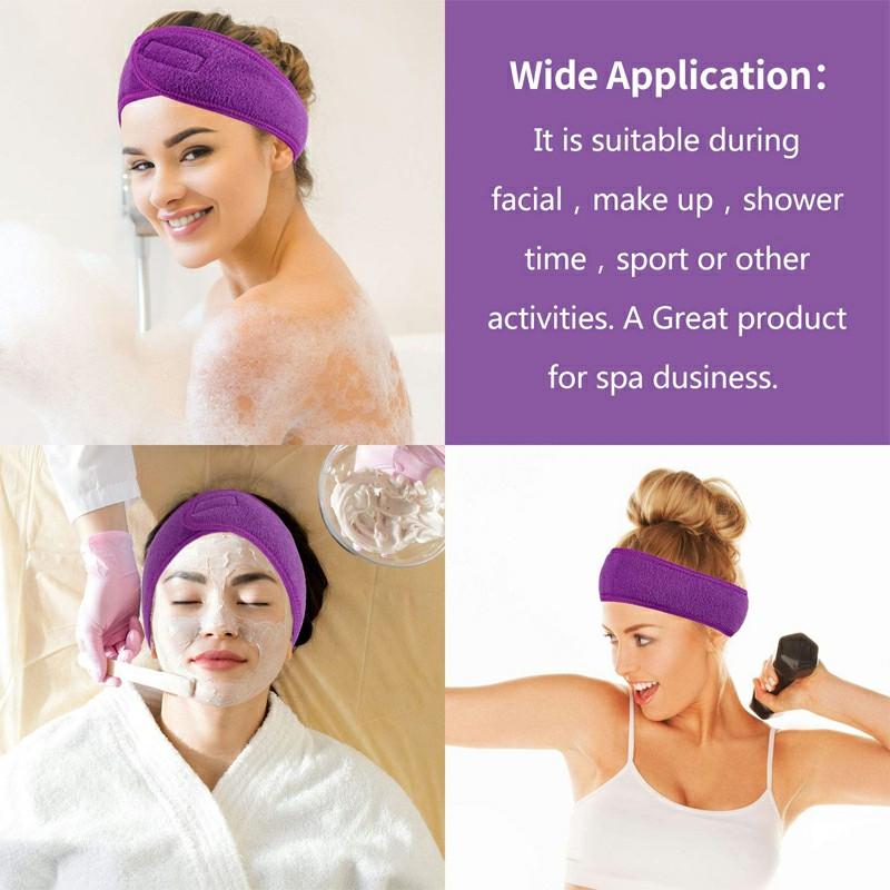 Spa Makeup Yoga Sports Headband Washing Face Hair Hood Sweat-absorbent Turban - Purple
