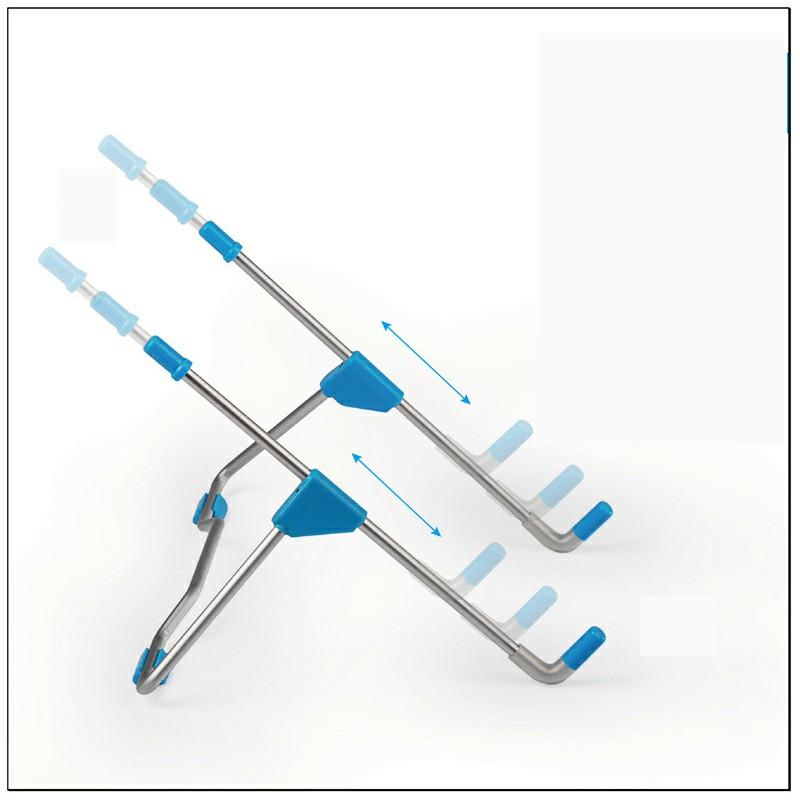 Adjustable Folding Holder Laptop Stand Support Holder - Blue