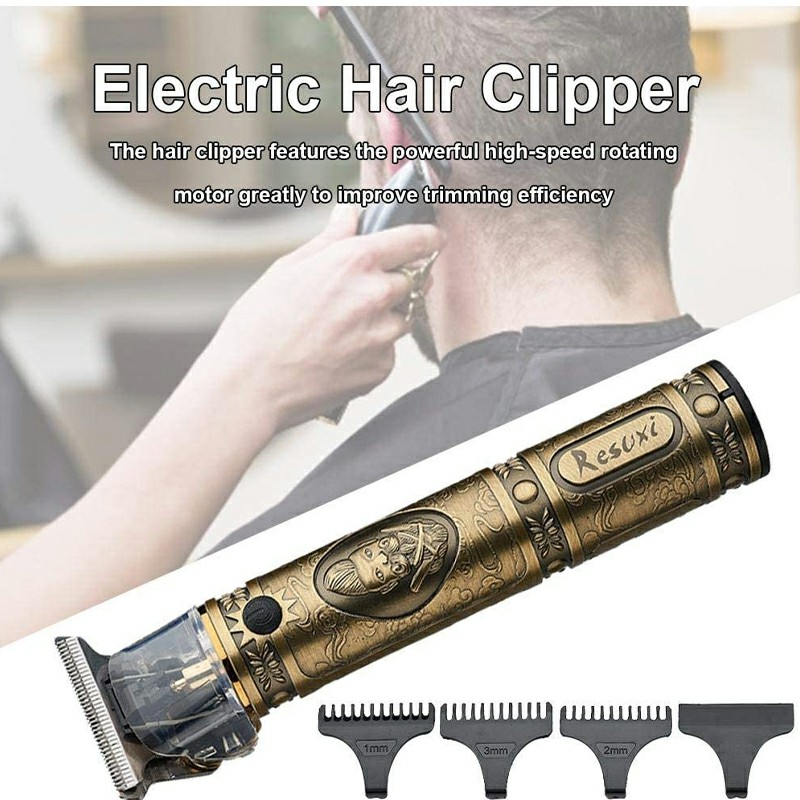 Electric Pro Li Outliner Grooming Cordless Close T-Blade Shaver Cutting Trimmer