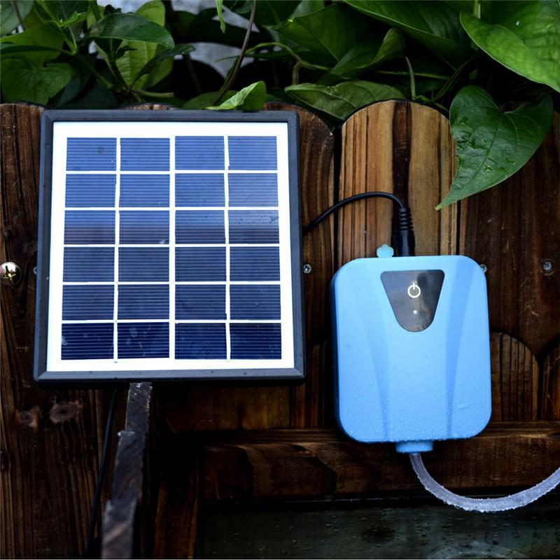 Solar Powered Pond Oxygenator Water Pump 2 Air Stones Oxygen Aerator