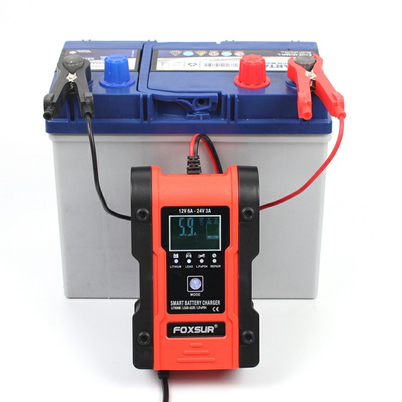 LCD Display 12v Automatic Fast Battery Charger Maintainer for Automobiles Motorcycles ATVs Boat