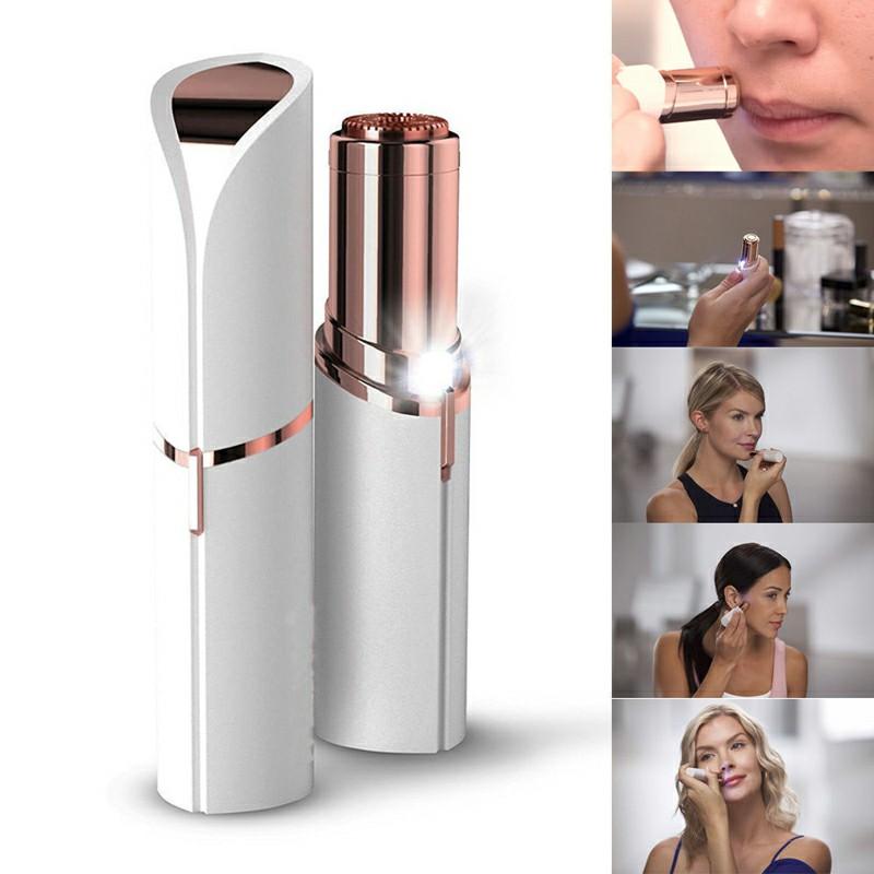 Women Painless Hair Remover Face Facial Finishing Touch Epilator - White