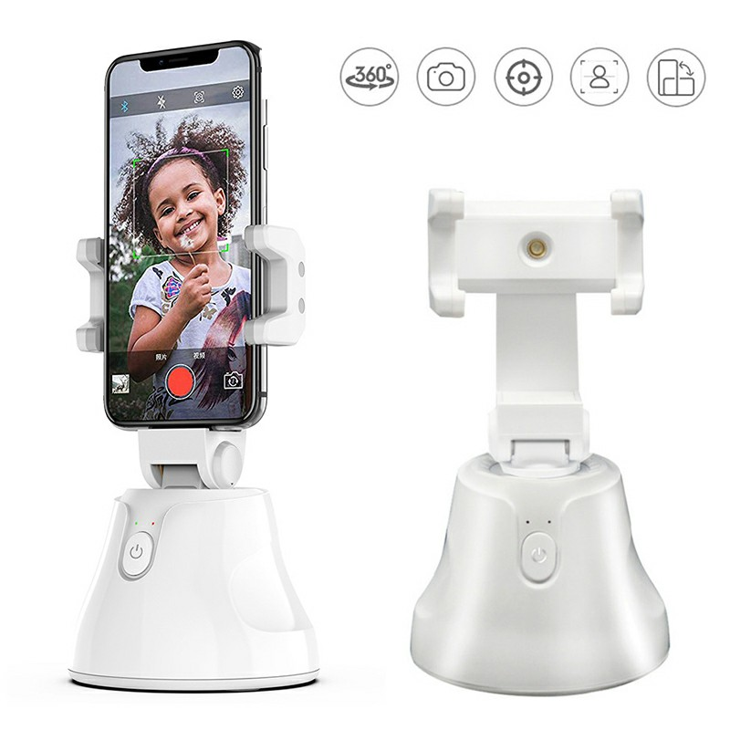 Auto Tracking Smart Shooting Phone Holder 360 Rotation Auto Face Tracking Holder - White