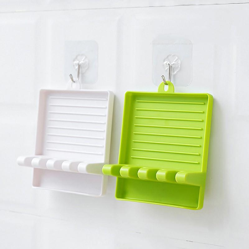Kitchen Storage Rack Mat Stand Heat Resistant Holder Spoon Spatula Multi-functional Plastic Racks - Green